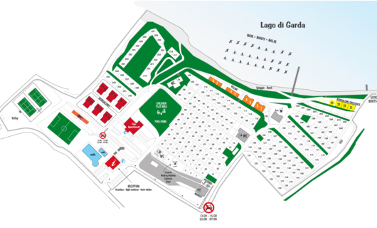 Plattegrond Camping Zocco